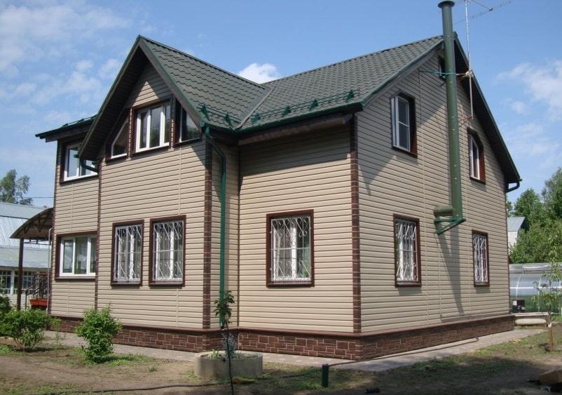 Фасад здания из сайдинга